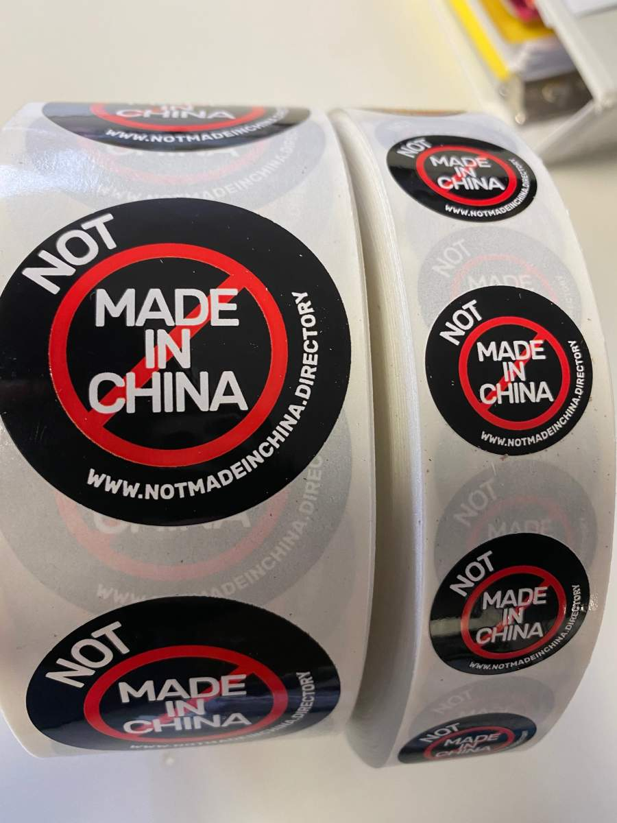 NMIC Not Made In China Stickers